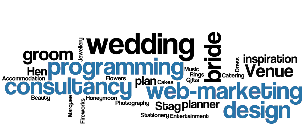 web design web-marketing seo wedding planner bride groom inspiration Accommodation Cakes Catering Dress Flowers Gifts Hen Stag Honeymoon Marquee Music Photography Rings Jewellery wedding venue